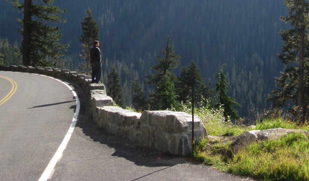 The author of The Curious Road in Mt. Rainier National Park