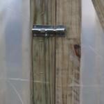 Greenhouse door fastener