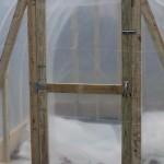 Door of greenhouse