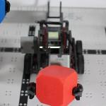 Vex IQ robot holding a block