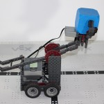 Robotics club robot picking up a block 2