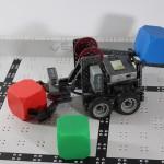 Vex IQ robot carrying blocks