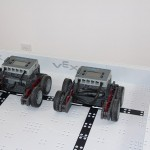 Front view of robotics club robots