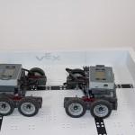 Base robots facing off