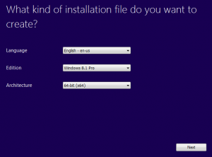 Windows 8.1 pro media creation screen 1