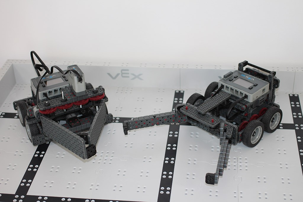 Vex IQ robots for match on 01-21-2015