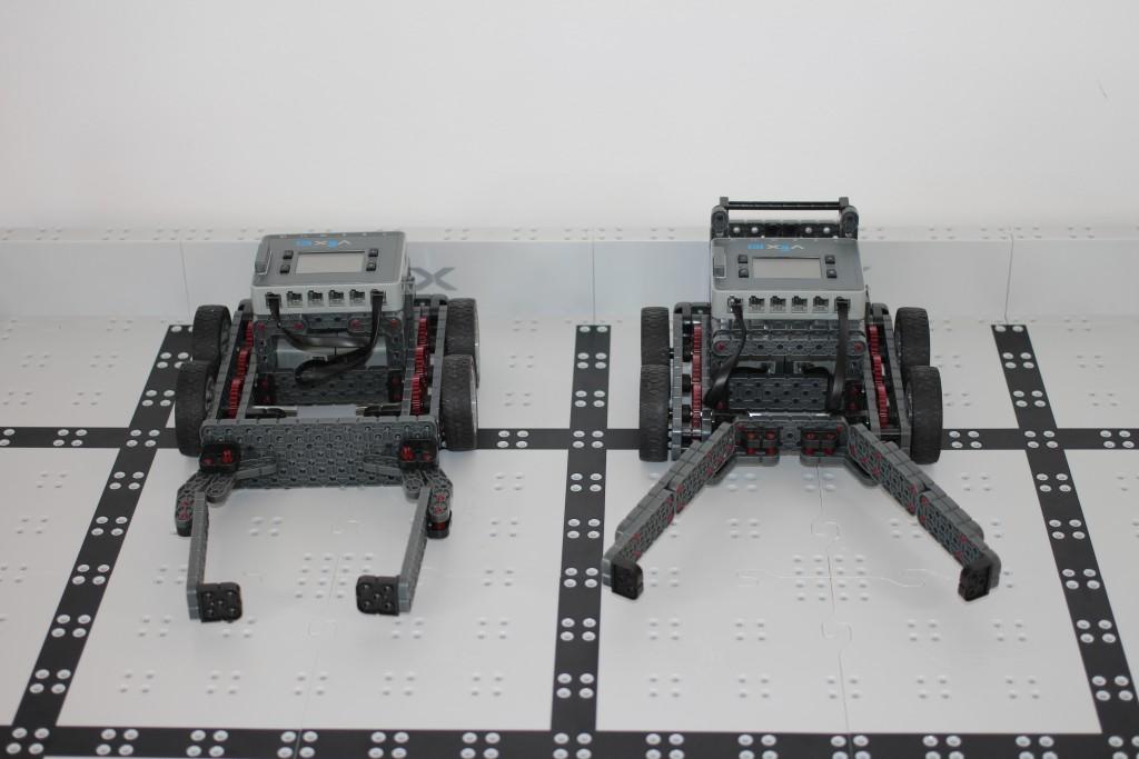 Robotics team robots from front