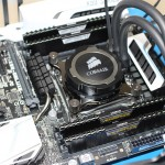 Water cooled PC components on test bench