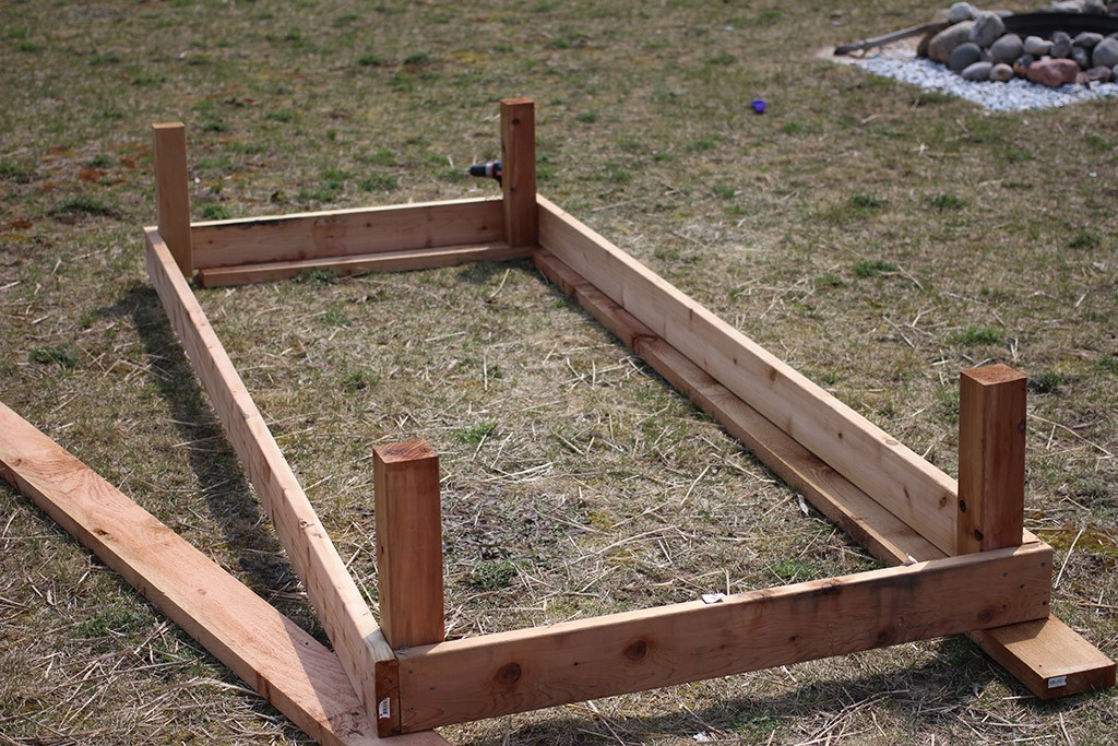building large raised garden beds step four