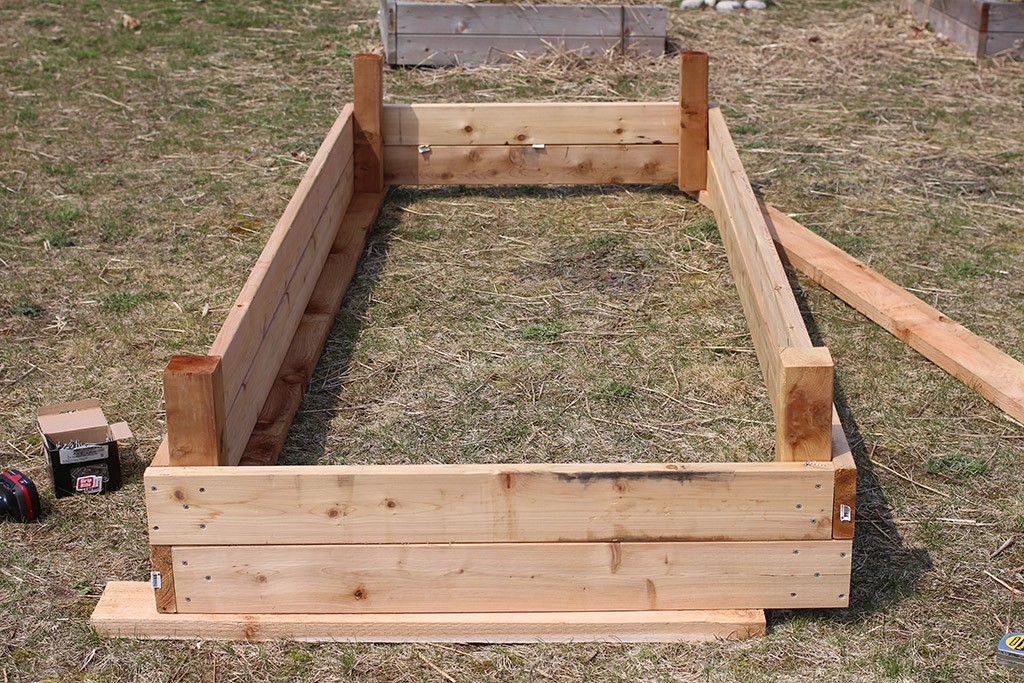 building large raised garden beds step five