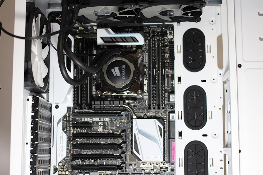 Motherboard and fans