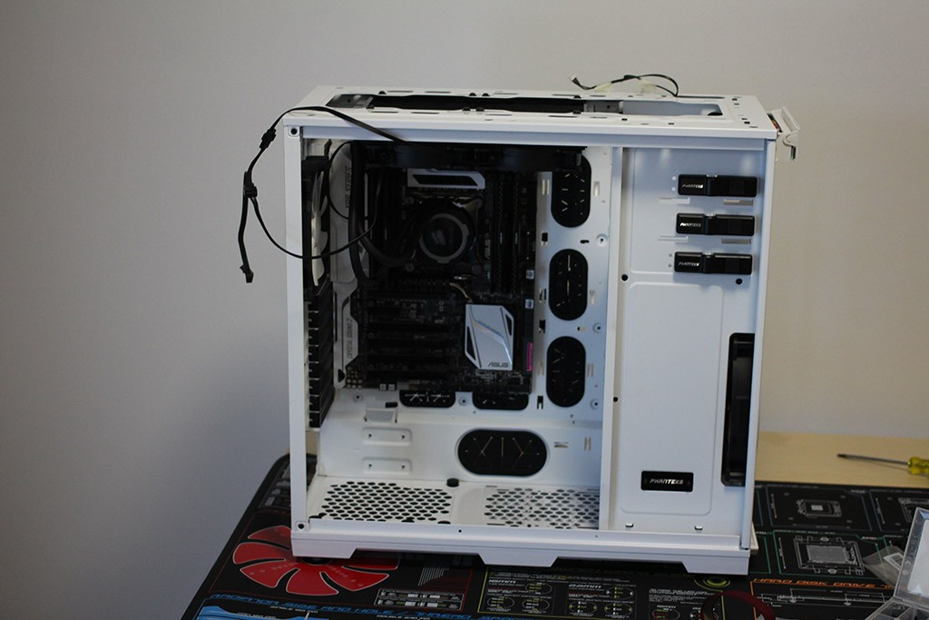 motherboard and radiator