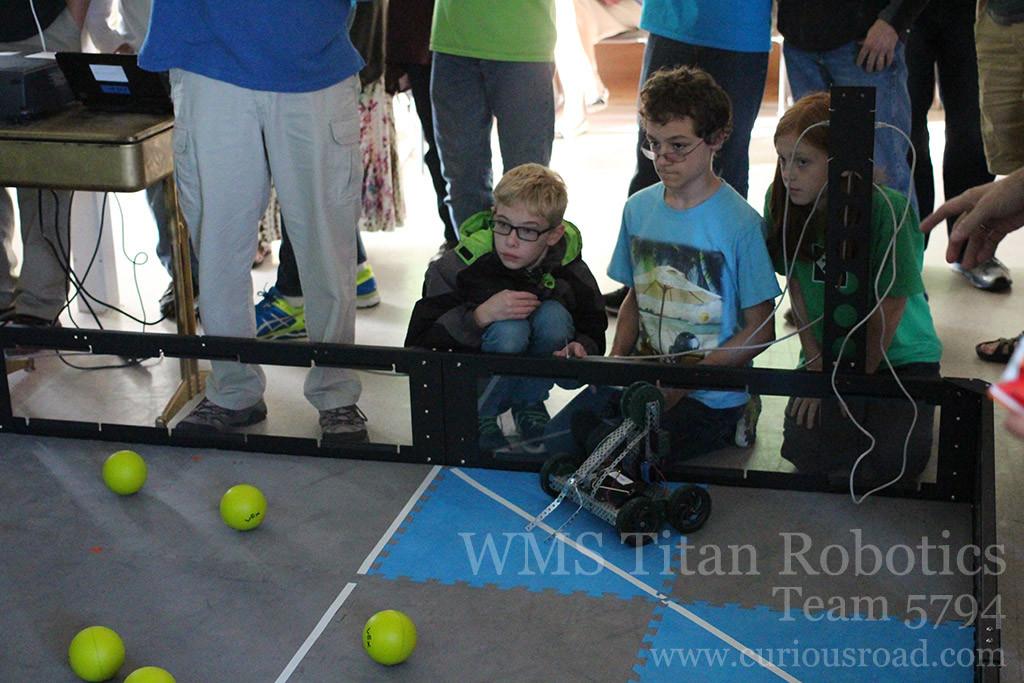 Team 5794A getting ready for their first robotics match