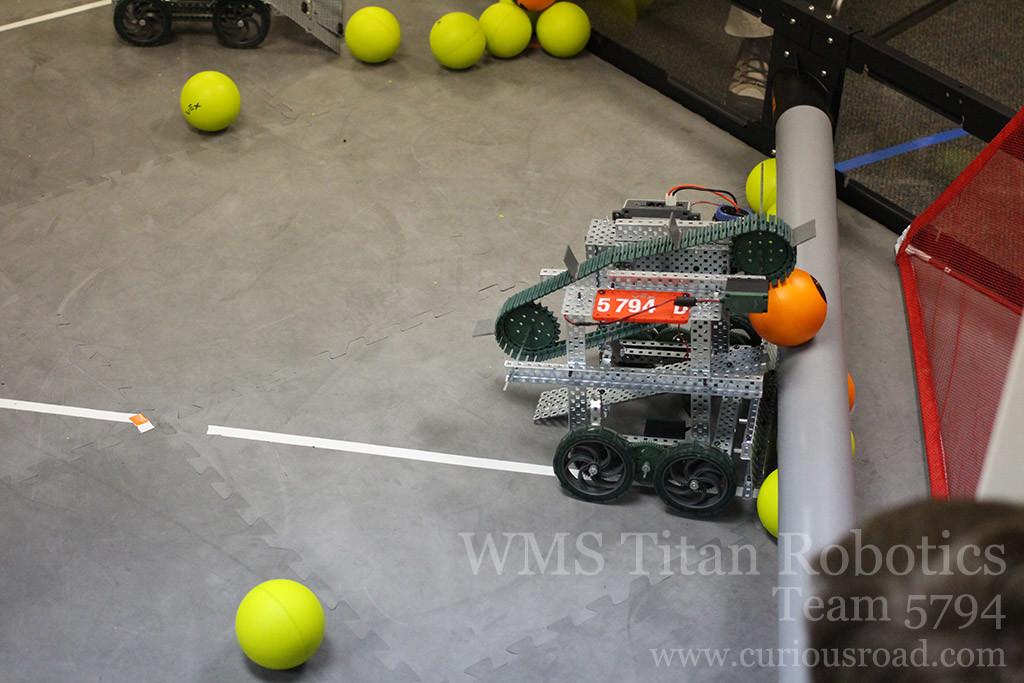 Robotics club team 5794D and their new intake scoring