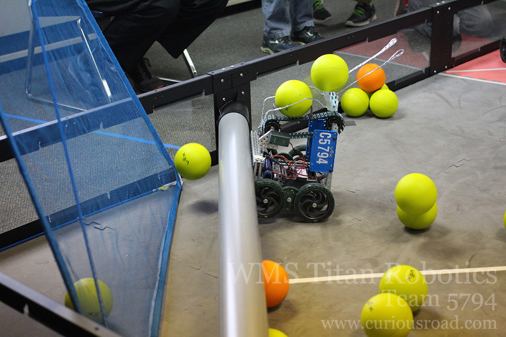 Robotics club team 5794C was able to consistently score all their preloads in autonomous