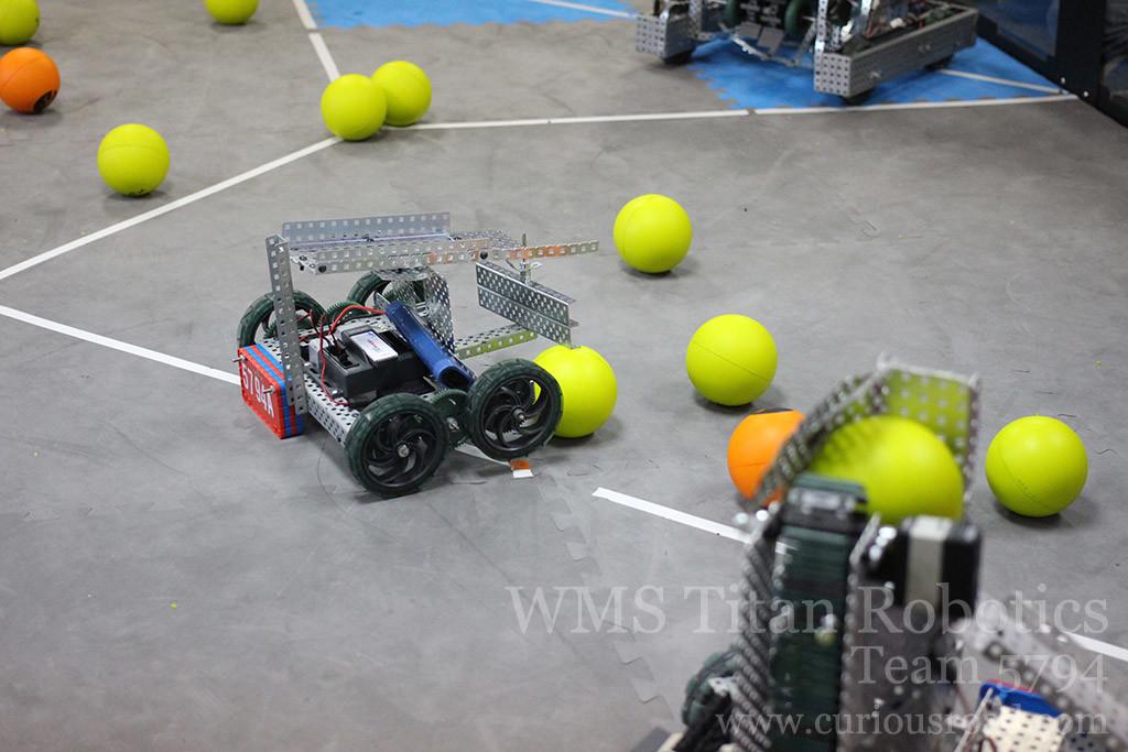 Robotics club 5794A pushing balls