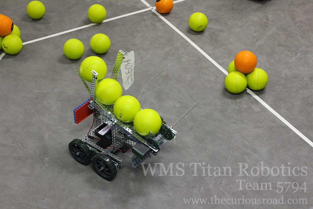 Robotics club Team 5794A finally can score