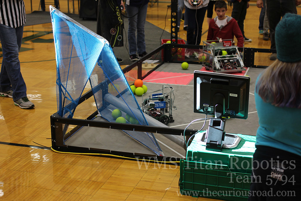 team 5794C's robot scoring some points
