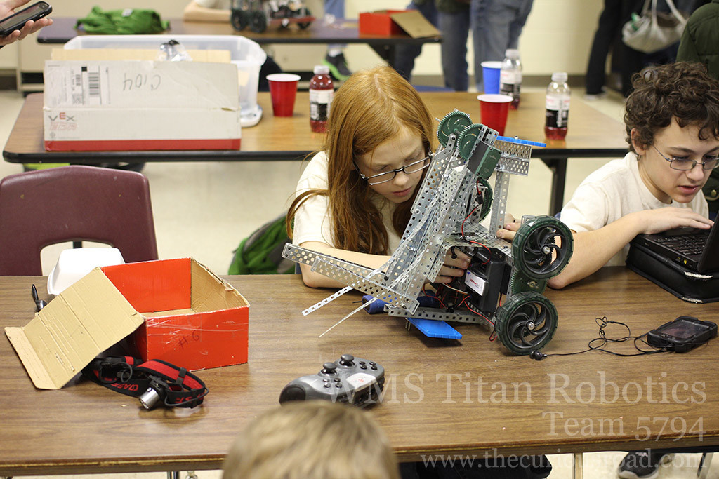 A team working on their robot