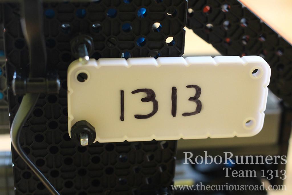 RoboRunners robot license plate