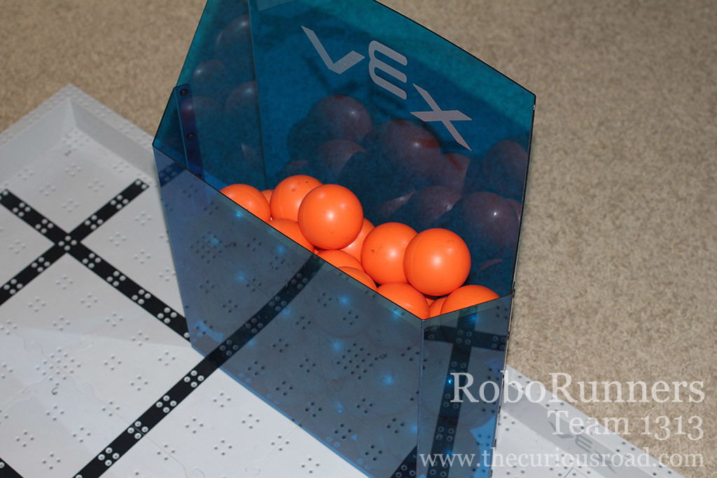 All Vex IQ balls in the high goal