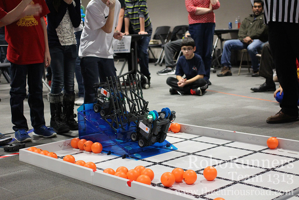 A two robot park during a match