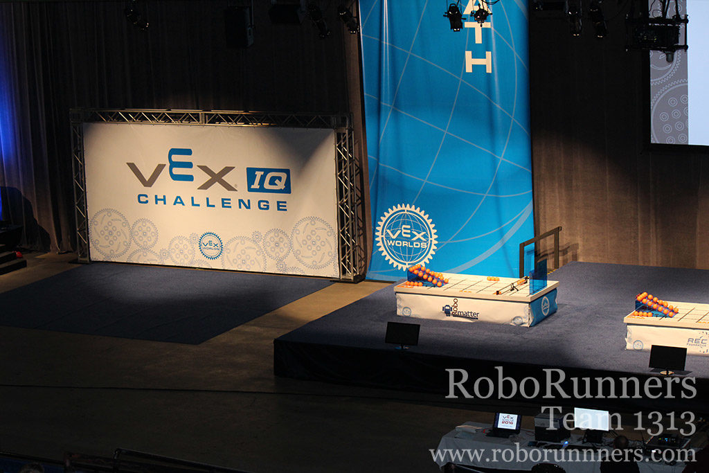 a VEX IQ field at VEX Worlds