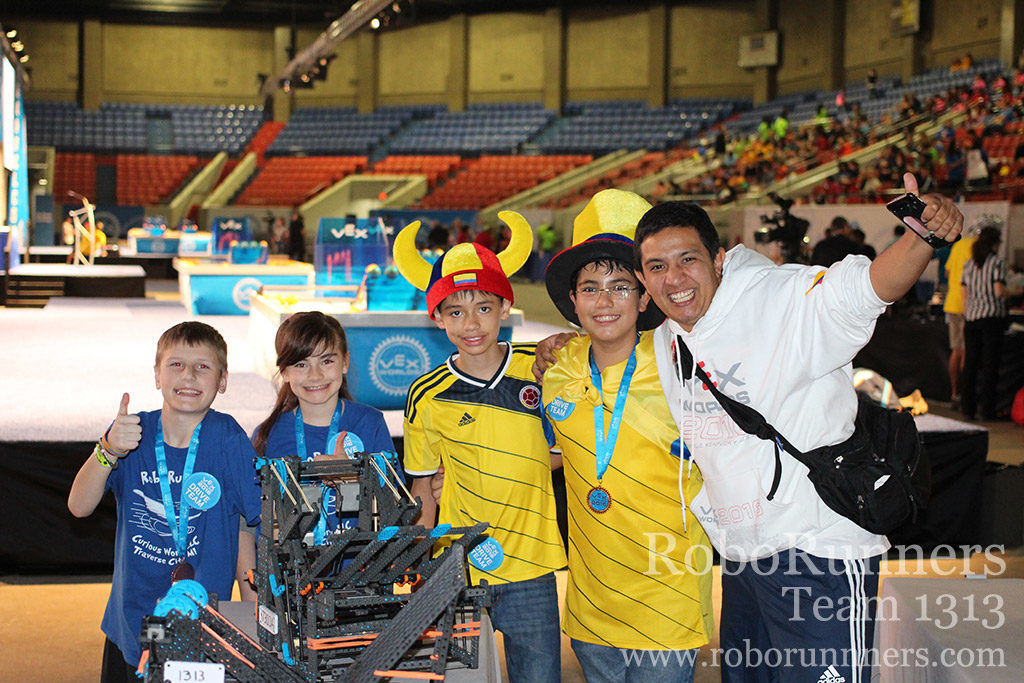Posing with finals partners from Colombia