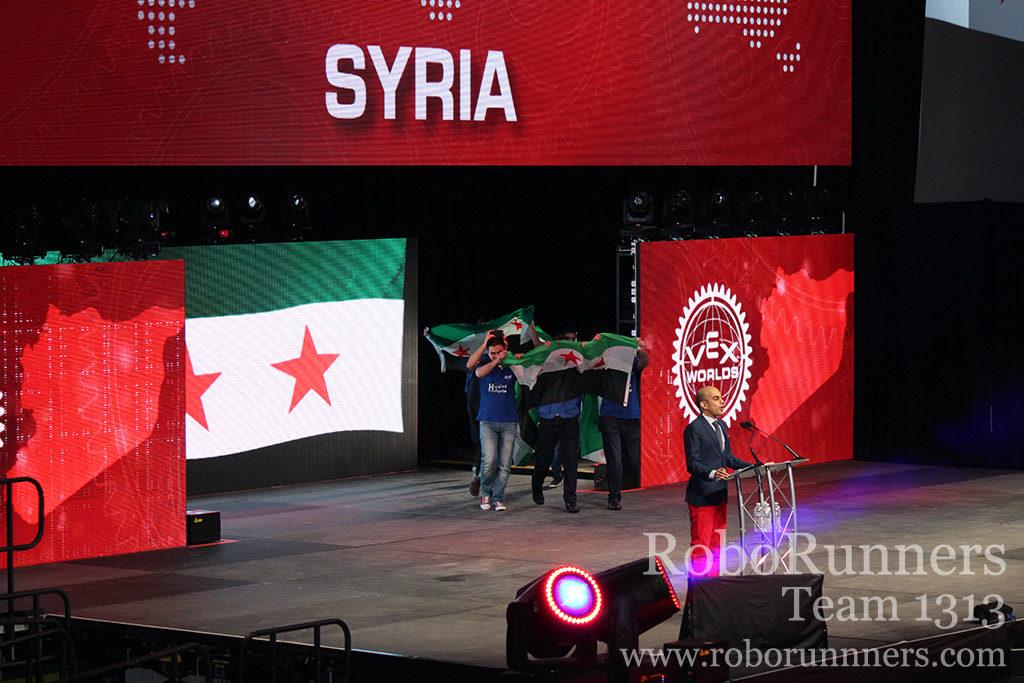 Syrian refugee team at VEX Worlds
